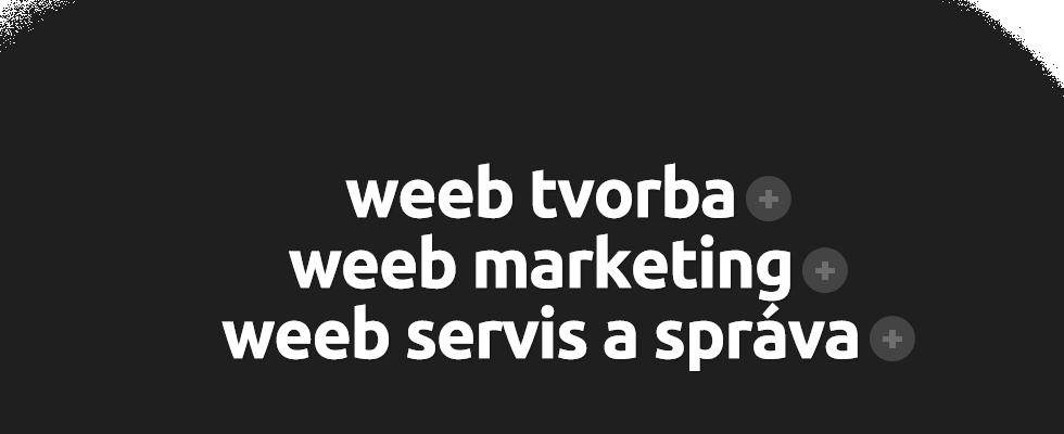 weeb tvorba, weeb marketing, weeb servis a správa